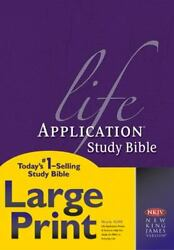 Life Application Study Bible Nkjv Large Print - Hardcover By Tyndale - Very Good