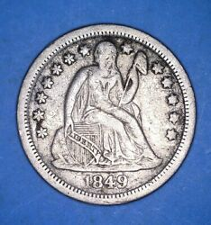 1849-o Small Mm New Orleans Liberty Seated Dime - Extremely Fine - 57199548