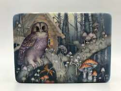 Magnificent Russian Fedoskino Lacquer Box Magic Mushrooms Hand Painted