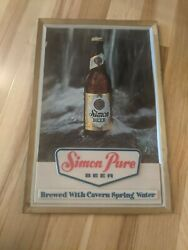 Vintage Simon Pure Beer Sign Insert Waterfall