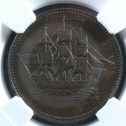 Pe-10-33 Ngc Au-50 Robins Ships Colonies And Commerce Token Pei Canada Breton 997