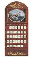 Sentinels Of The Season Wolf Collectors Plate Perpetual Calendar
