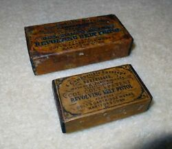 Small Antique Colt Style Combustible Cartridge Ammo Box Civil War 36 1851 Navy