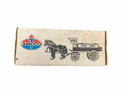 Vintage Ertl Amoco Crown Standard Horse And Wagon Coin Bank Cast Iron Toy