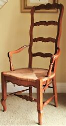 Vintage Beautiful Antique Drexel French Country Wood Library Arm Desk Chair