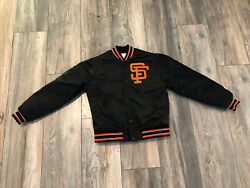 90's San Francisco Giants Starter Satin Jacket Youth Small Mint Made In Usa