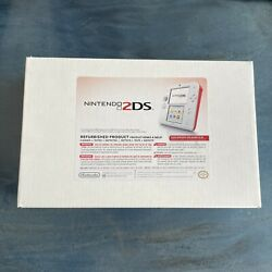 Nintendo 2ds Refurbished Scarlet Red And White Mint W/ New Charger Free Shipping