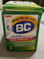 Bandc Fast Pain Relief, Arthritis Powders, 12 Packs Of 6 Sticks. Best By 08/21