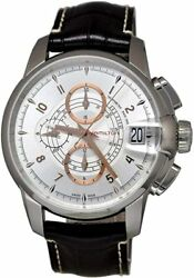 Brand New Hamilton Menand039s Classic Railroad Chrono Brown Leather Watch H40616555