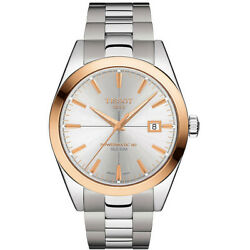 Brand New Tissot Men's Powermatic 80 Silicium Solid Gold Watch T9274074103100