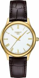Brand New Tissot Women's Excellence Lady 18k Gold Leather Watch T9262101601300