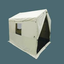 Luxury Outfitters Outdoor 6 Person Wall Tent 12and039 X 10and039 With Pvc Floor Stove Jack