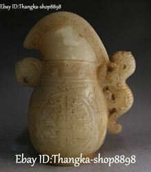 9 Chinese Old Jade Carved Dragon Pixiu Beast Lion Elephant Head Cup Cups Statue