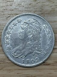 Early 1809 Bust Half Dollar Details 6/21/21 Free Shipping