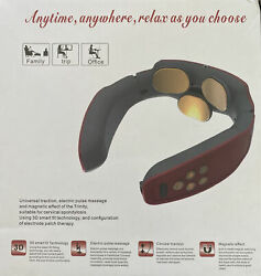 Electric Pulse Back And Neck Massager - White/silver- New