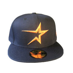 New Era 59fifty Cap Houston Astros Cooperstown Fitted Hat 5950 7 3/8 And 1/2