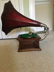 Antique Gramophone And Typewriter Ltd Phonograph And Albums