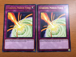 M NM Storming Mirror Force MAGO EN096 Gold Rare 1st Edition Yugioh X 2
