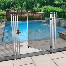 6ft Black Removable Pool Privacy Backyard Deck Garden Patio Fence With Poles