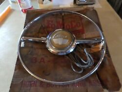 1941 1948 Ford Passenger Super Deluxe Nos Horn Ring And Button Assembly 6a-3627-b