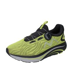 Menand039s Shoes Mbt 9.5 Eu 43.5 Sneakers Green Textile Black Bh425-435