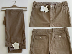 Brunello Cucinelli Casual Leisure Fit Trousers Cargo Military Pants New 54