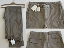 Brunello Cucinelli Casual Leisure Fit Trousers Cargo Military Pants New 48