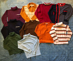 vintage kids lot Of 10 Hippie 70's Turtle Neck Long Sleeve Shirts Donmoor