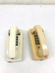 Lot Of 2 Vintage Single Line Wall Phones Untested Cortelco Atandt