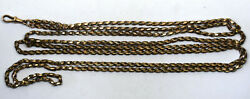 Antique Long 9k Rose Gold Pocket Watch Chain Fob Read
