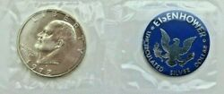 1972 Eisenhower Uncirculated Silver Dollar Issued By The Treasury Department