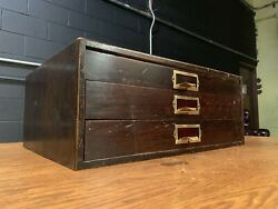 Small Antique Flat File Cabinet