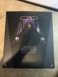 Hot Toys Star Wars Emperor Palpatine Deluxe Action Figure W/ Custom Lightsaber