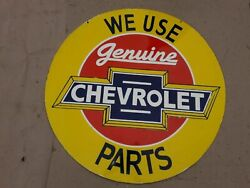Porcelain Chevrolet Enamel Sign Size 36 Inches Round Double Sided