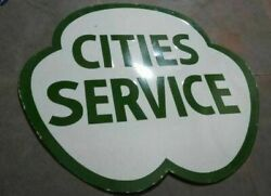 Porcelain Cities Service Enamel Sign Size 36 Inches