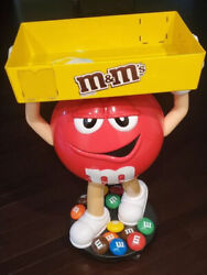 Mandm Candy Red Character Store Display With Storage Tray