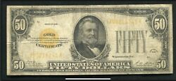 Fr. 2404 1928 50 Fifty Dollars Gold Certificate