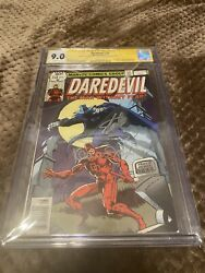 Daredevil 158 Cgc 9.0 Signed By Stan Lee, Frank Miller, And Klaus Janson