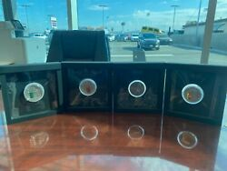 Fiji Masterpieces In Stone 3 Oz Each Silver Coins Set Of 4 2013,15,16 And 18