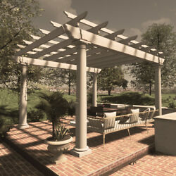 Freestanding Pergola Plans 12and039 X 12and039 Plans Only