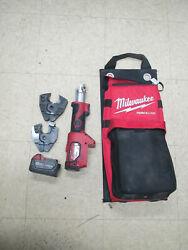 Milwaukee Hydraulic 18v Li-ion Crimper 2678-20 W 2 Jaws,bag And Battery No Charger