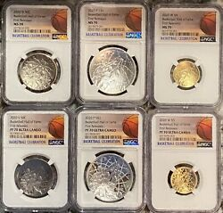 2020 Basketball 6 Piece Set Ngc Pf70 Uc First Releases