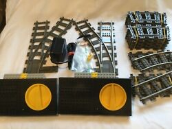 Huge Lot Vintage Lego Old Dark Gray Assorted Train Track…straight,curve,switches
