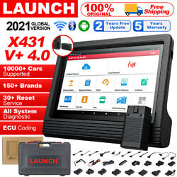 10 Tablet Pad Diagnostic Tool Launch X431 V+ Bidirectional Scanner Key Coding