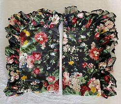 2 King Shams Cossette Isadora Black Floral French Country