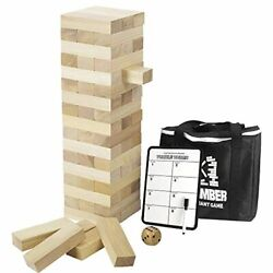 Giant Timber Tower With Dice And Game Board, 56 Pcs Gentle Monster Large Size