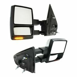 Tow Mirror Set For 2009 2014 Ford F150 Left And Right Side Power Heat Signal Light