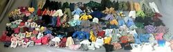 Barbie And Ken Dolls 50 Outfits Tops Bottoms 1pc Dresses+shoes And Accss Tot100pcs