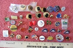 Lot Of Lapel Pins Ny Related Vintage Dutchess County Poughkeepsie Us Military +