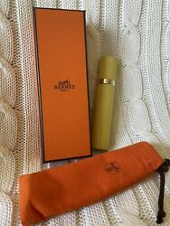 New Hermes Refillable Leather Perfume Atomizer Travel Bottle Funnel Nib Pouch